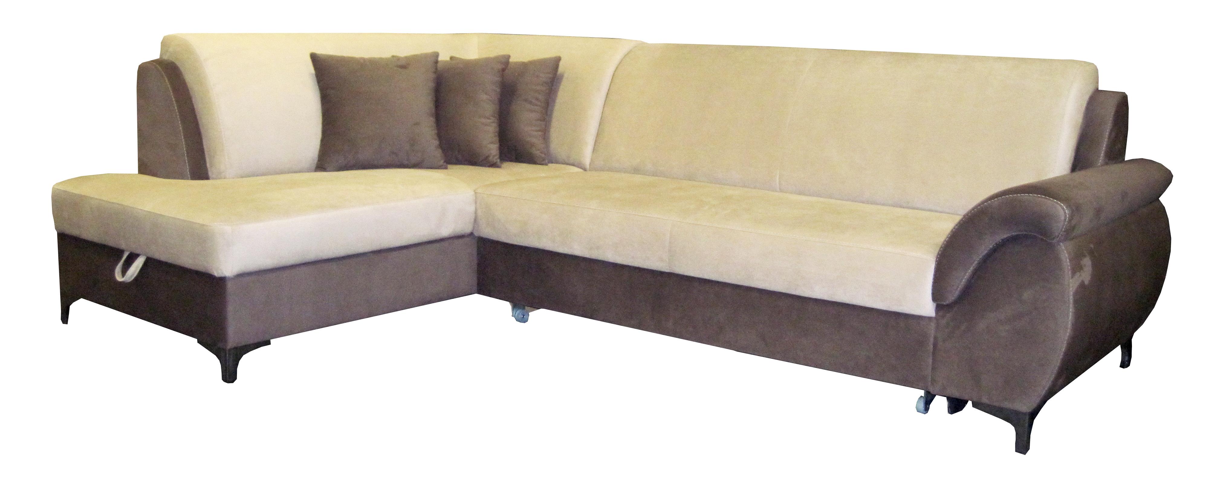 Rohová sedačka - BRW - Bruce RECBK.2F hnedá (L)