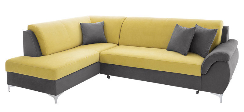 Rohová sedačka - BRW - Bruce RECBK.2F šedá (L)