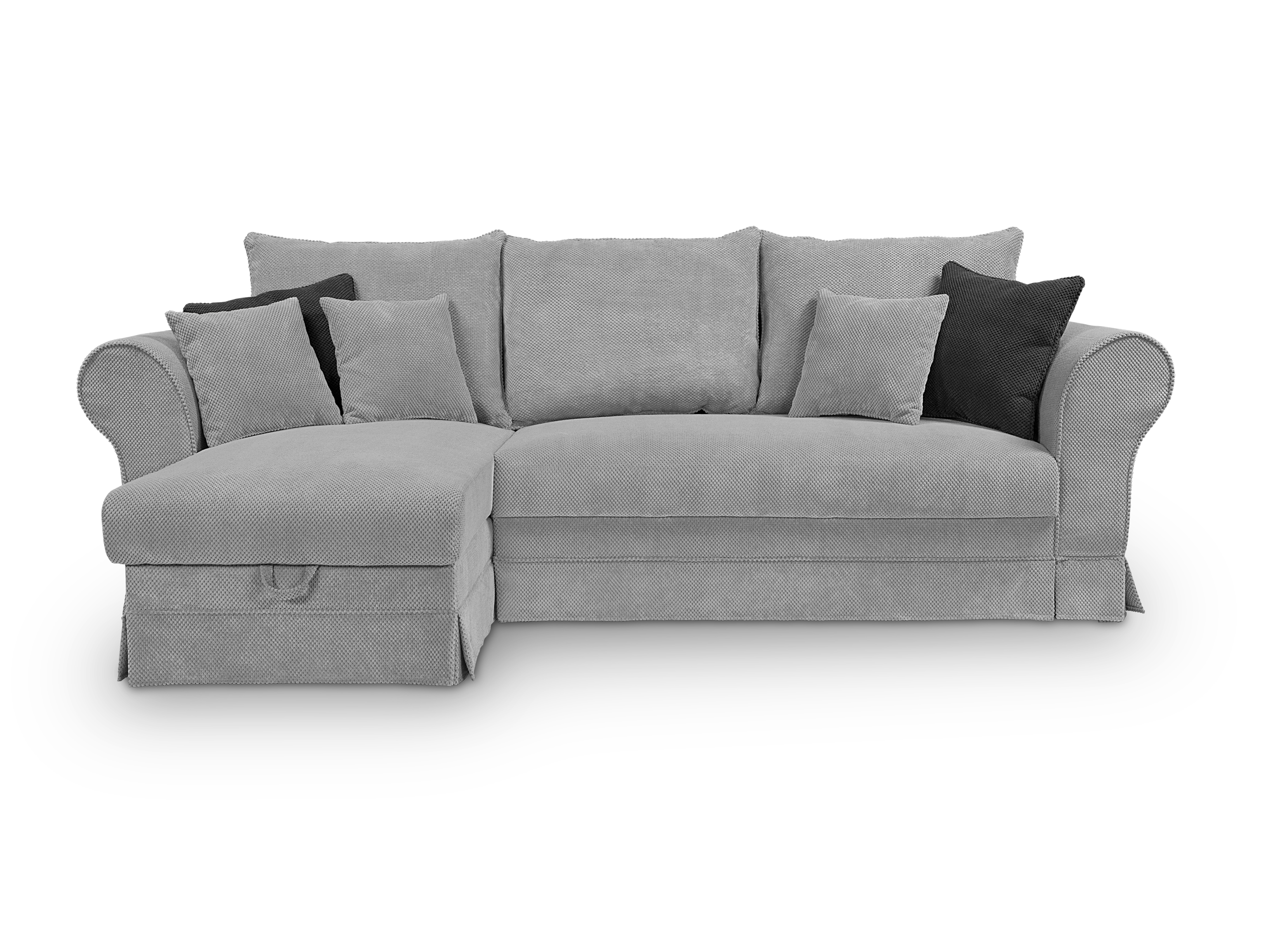 Rohová sedačka - BRW - Margaret Lux hnedá (L)