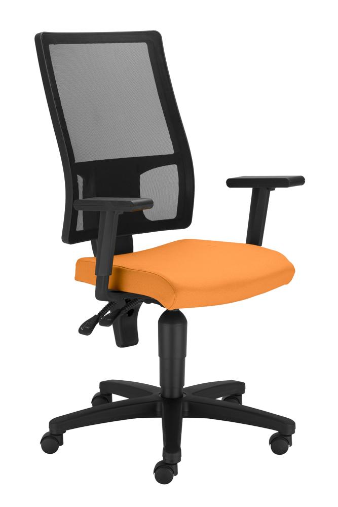 Kancelárska stolička - BRW - Taktik Mesh Ergon TS + GTP42BL  oranžová