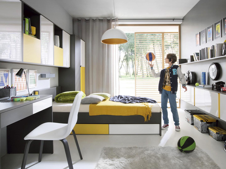 cf7c66fd405e Moderná sektorová detská alebo študentská izba v farebných prevedeniach.  Detské izby a študentské izby za nízke ceny. Vyberte si detské komplety a  ...