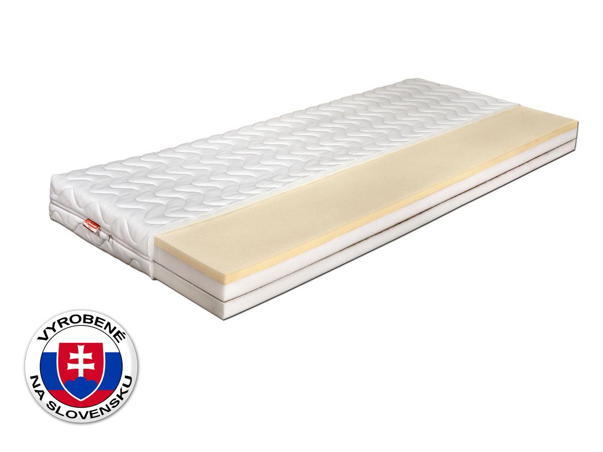 Penový matrac - Benab - Lazy Foam - Atypický rozmer (cena za 1 m2) (T3/T4). Priedušný, anatomický, obojstranný matrac s obsahom vysoko elastickej pamäťovej peny (lenivej peny), s prírodnou kokosovou doskou, pre najnáročnejších. Vyrobený na Slovensku.