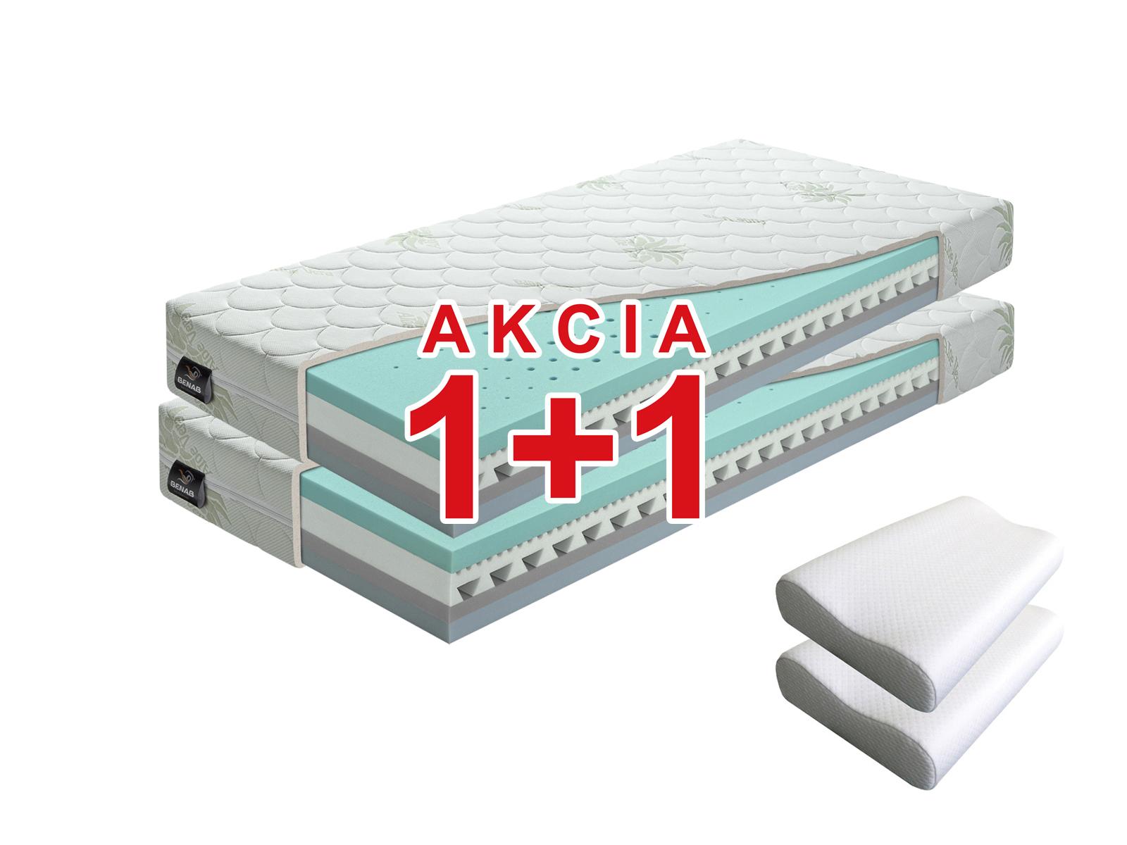 Penový matrac - Benab - Omega Flex Duo - 200x90 cm (T3/T4) *AKCIA 1+1 + 2 vankúše. Akcia (1+1): populárny a pohodlný obojstranný matrac so snímateľným poťahom, z naturálnej BIO peny so 7-zónovým odvetrávacím systémom vyrobený na Slovensku