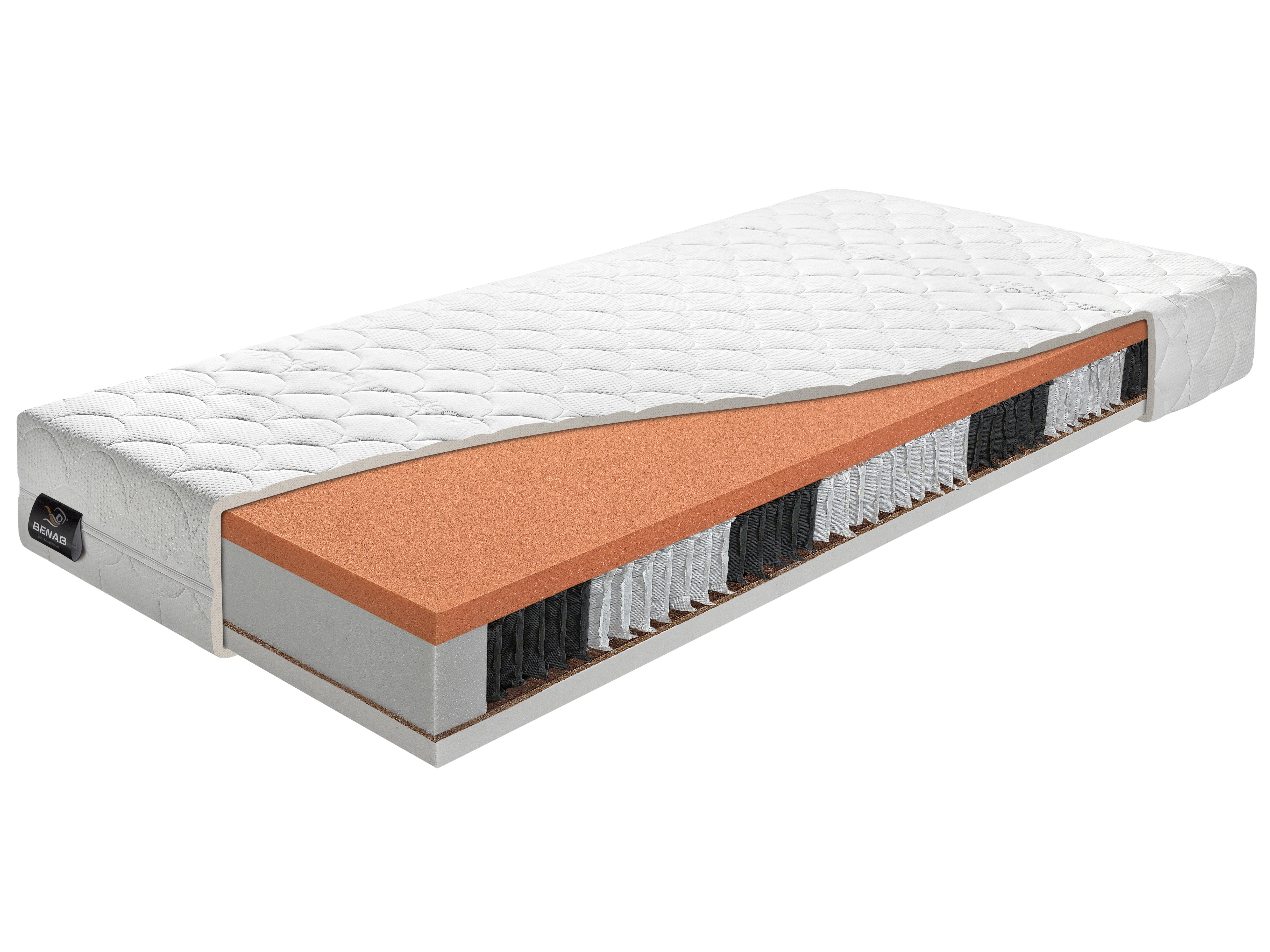 Taštičkový matrac - Benab - Multi S7 - Atypický rozmer (cena za 1 m2) (T4/T5). Extra vysoký anatomický matrac so zvýšenou nosnosťou, obojstrannou vrstvou prírodného kokosového vlákna, 5-ročnou zárukou a snímateľným poťahom.