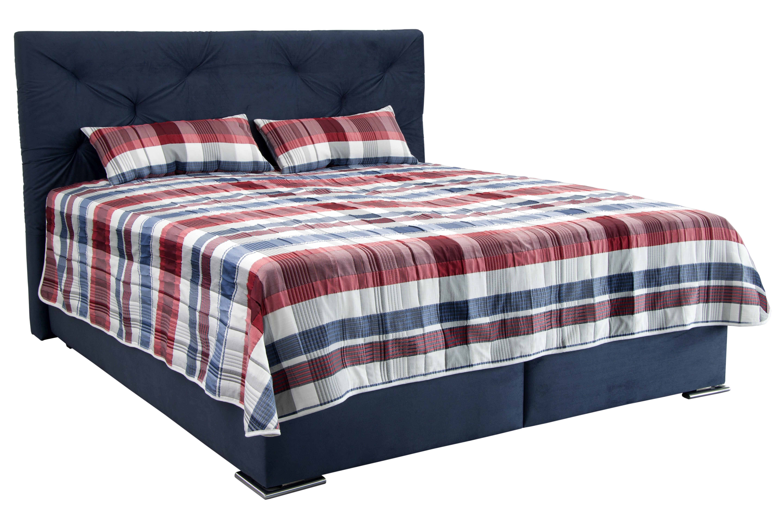 Manželská posteľ 180 cm - Blanár - Chicago (modrá) (s roštom a matracom IVANA PLUS). Doprava ZDARMA. Sme autorizovaný predajca Blanár. Vlastná spoľahlivá doprava až k Vám domov.