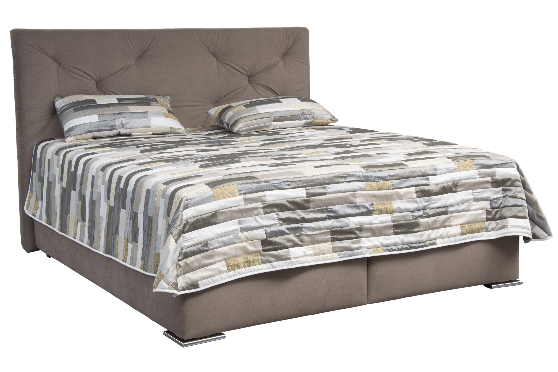 Manželská posteľ 180 cm - Blanár - Chicago (hnedá) (s roštom a matracom IVANA PLUS). Doprava ZDARMA. Sme autorizovaný predajca Blanár. Vlastná spoľahlivá doprava až k Vám domov.