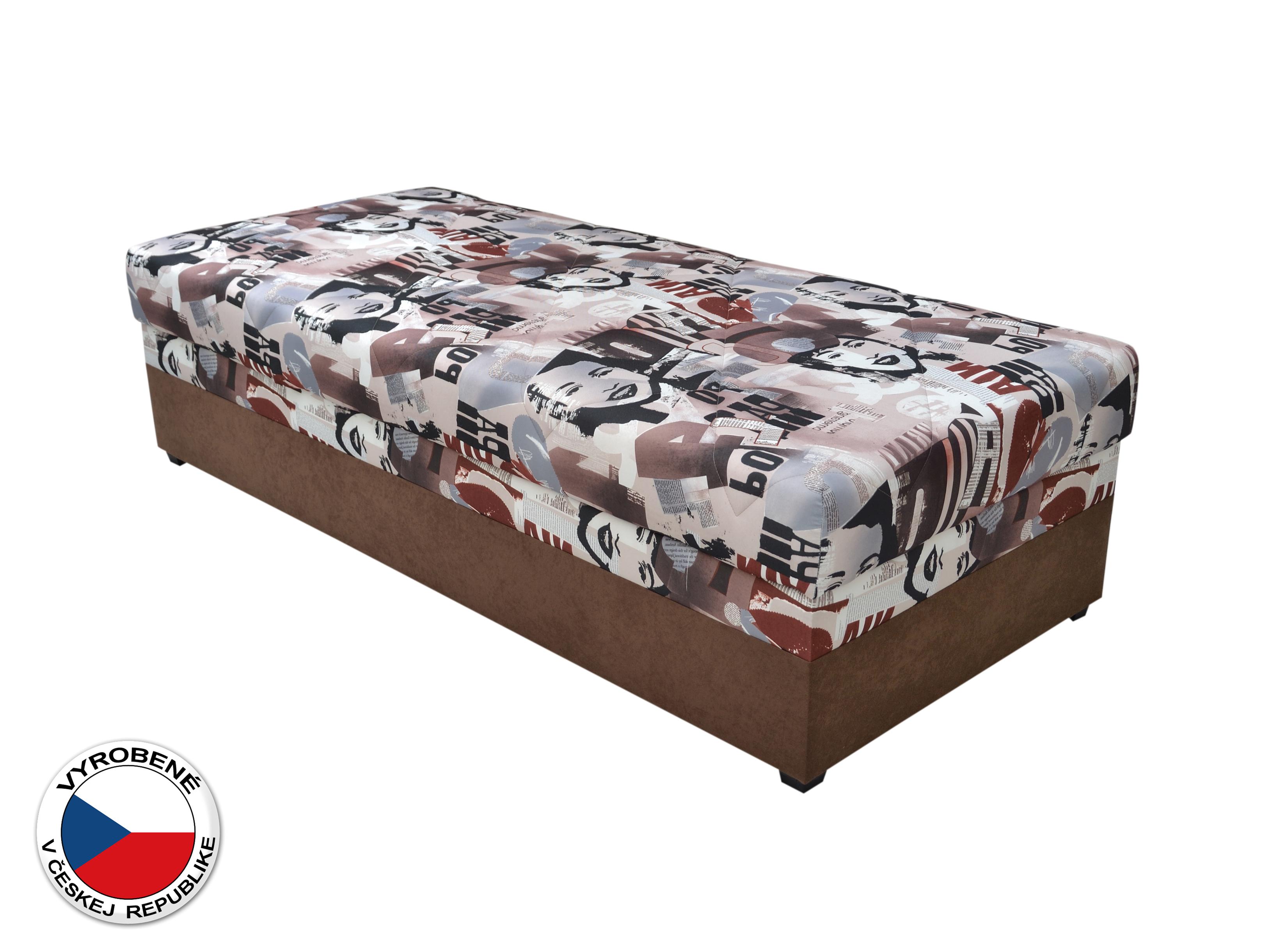 Jednolôžková posteľ (váľanda) 90 cm - Blanár - Evelina (vzor News 08) (s roštom a matracom)