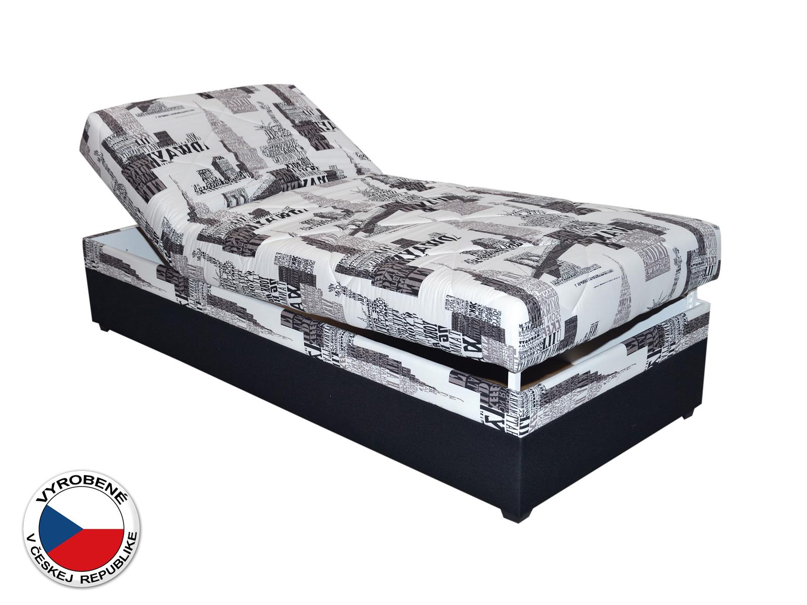 Jednolôžková posteľ (váľanda) 90 cm - Blanár - Evelina (vzor NYC B 05) (s roštom a matracom)