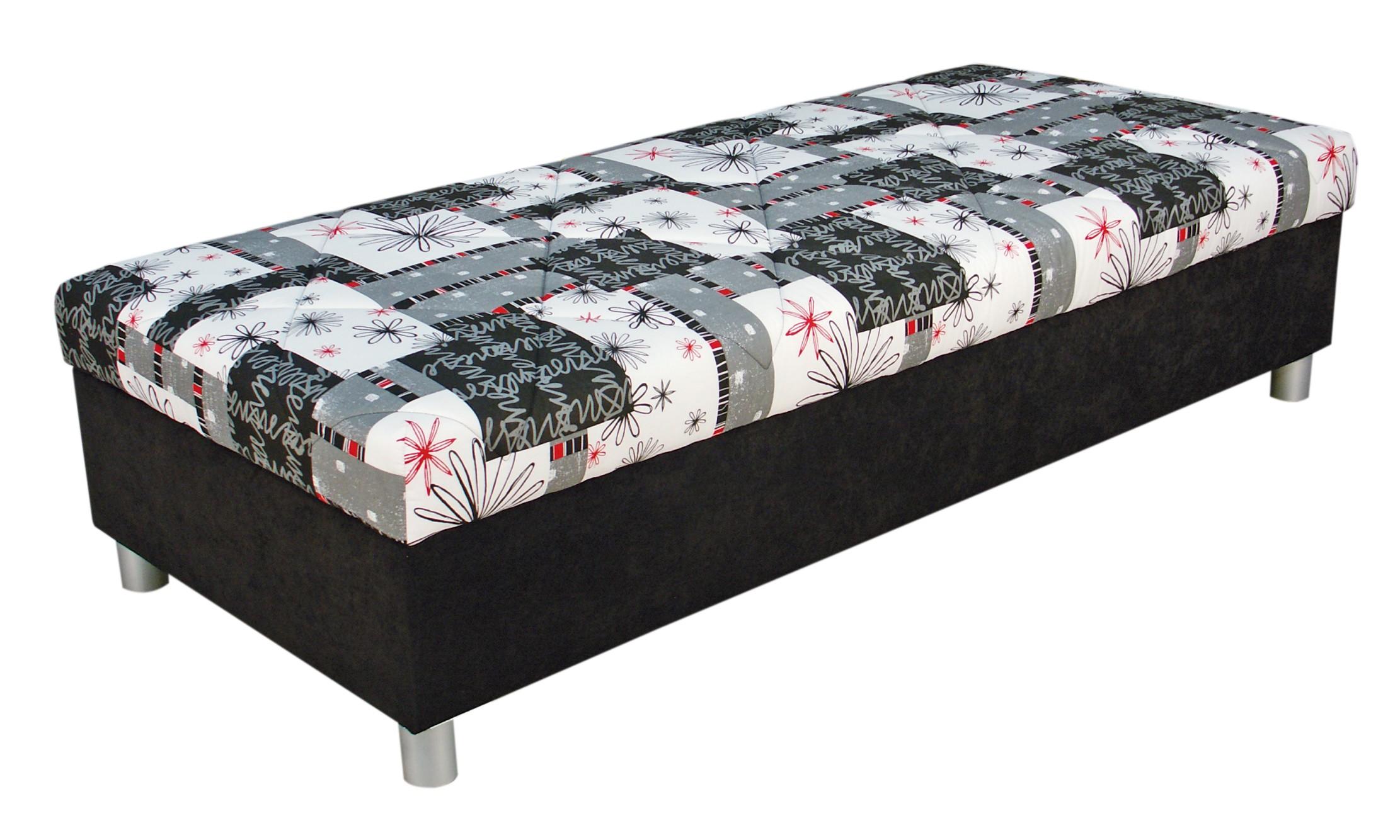 Jednolôžková posteľ (váľanda) 90 cm - Blanár - Inez (sivá) (s roštom a matracom)
