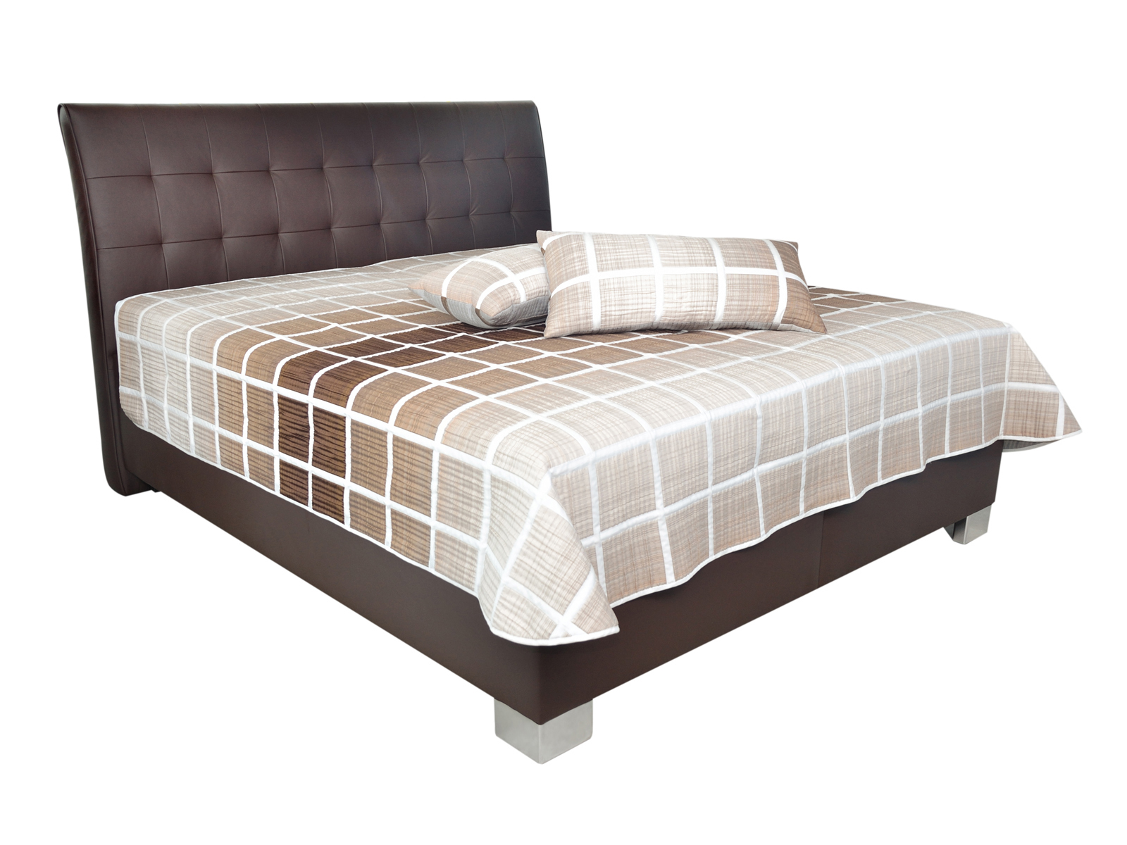 Manželská posteľ 180 cm - Blanár - Sara (hnedá) (s roštami a matracom Ivana Plus). Doprava ZDARMA. Sme autorizovaný predajca Blanár. Vlastná spoľahlivá doprava až k Vám domov.