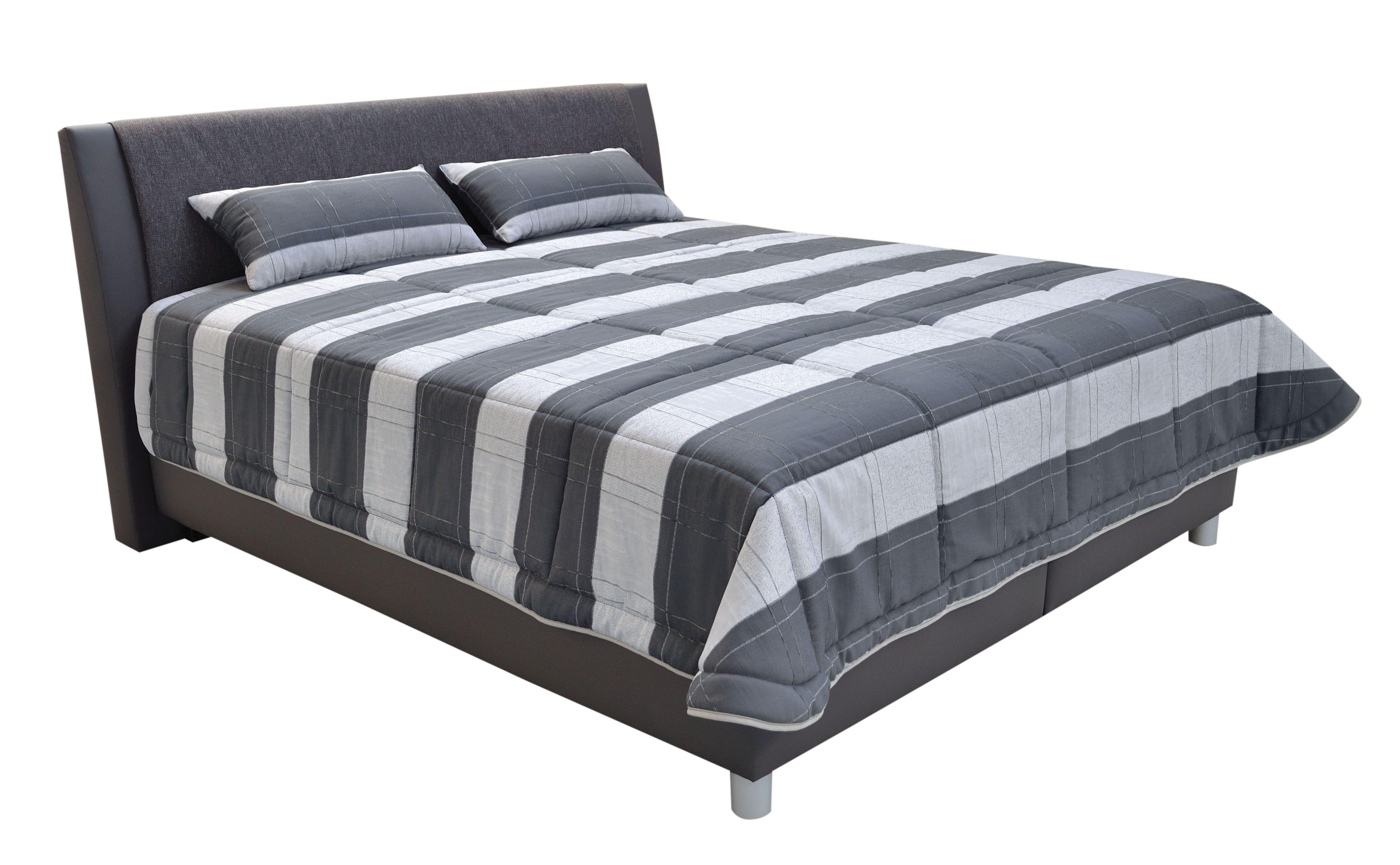 Manželská posteľ 180 cm - Blanár - Taranto (sivá) (s roštom a matracom IVANA PLUS). Doprava ZDARMA. Sme autorizovaný predajca Blanár. Vlastná spoľahlivá doprava až k Vám domov.