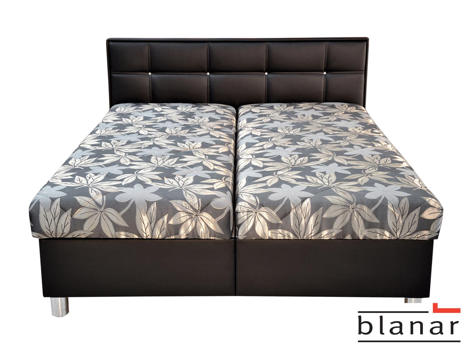 Manželská posteľ 180 cm - Blanár - Belfast (Toulouse 30/Bronco Black) (s roštom a matracom)