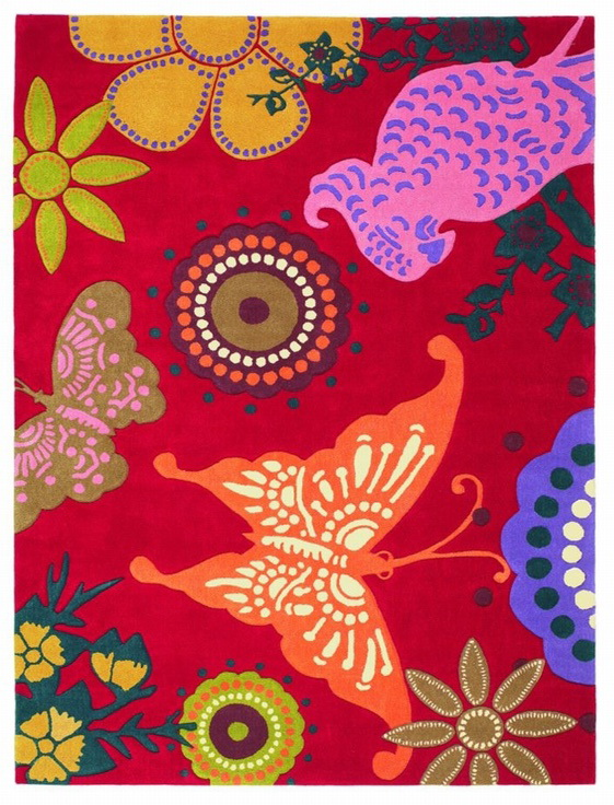 Ručne všívaný koberec - Brink and Campman - Xian butterfly 76000