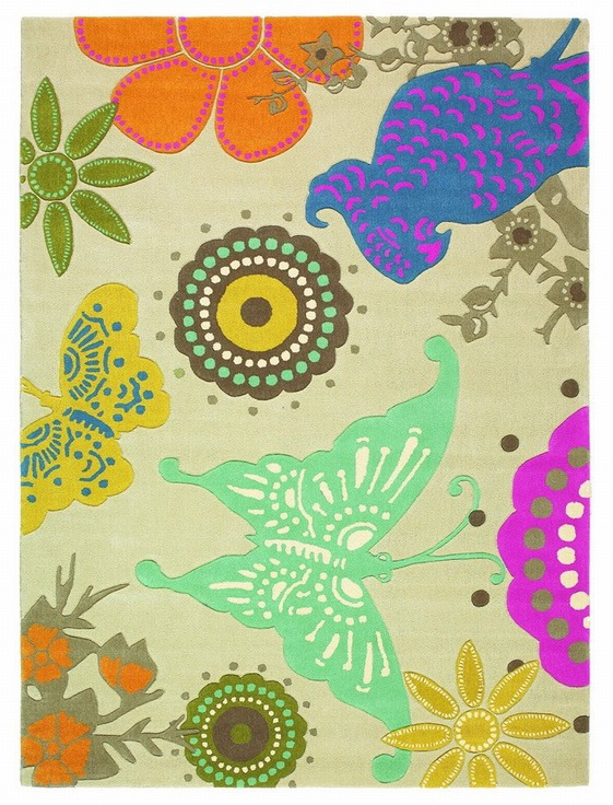 Ručne všívaný koberec - Brink and Campman - Xian butterfly 76001