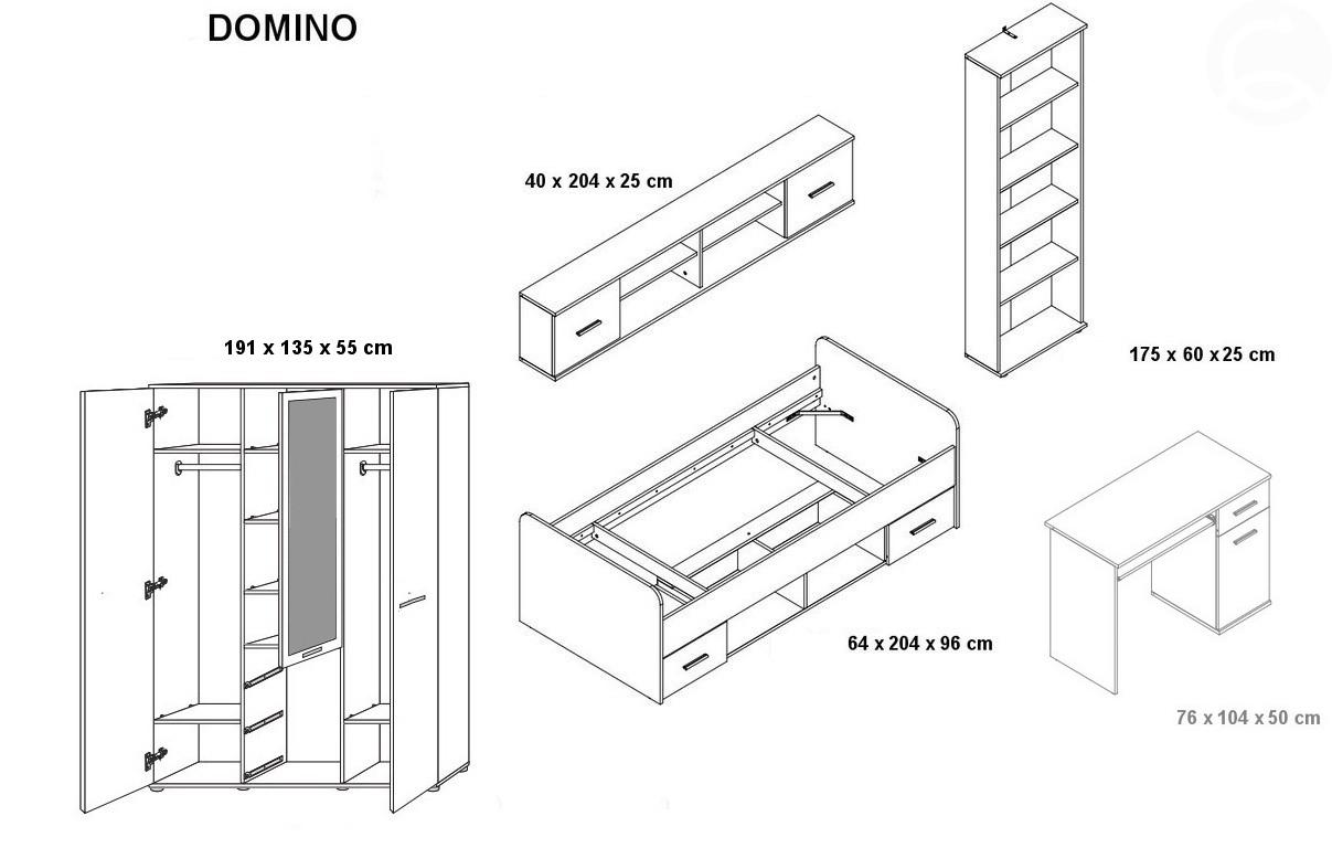 Detská izba - casarredo - domino iv - 101314