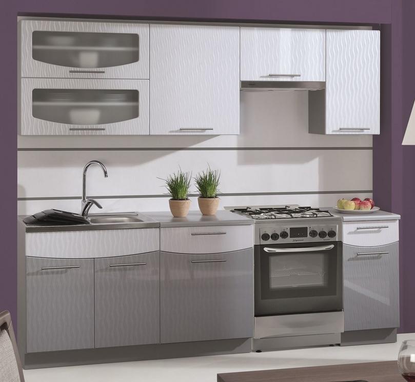 Kuchyňa - Casarredo - Smile 240 cm (šedá + strieborná) - Casa-017