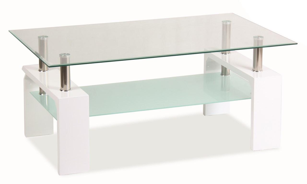 Konferenčný stolík - Casarredo - LISA BASIC Biela - MOB-4185