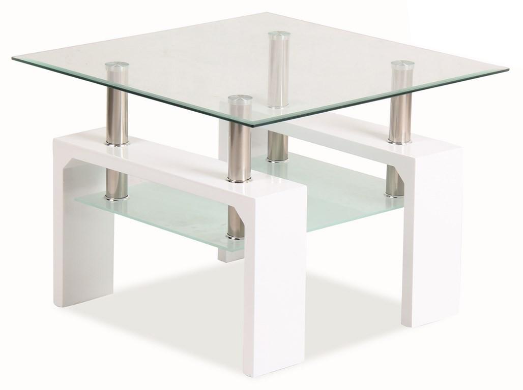 Konferenčný stolík - Casarredo - LISA D BASIC Biela - MOB-4185