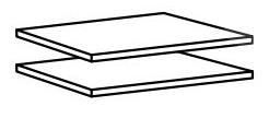 Poličky do skrine - Casarredo - CLEO 904 (2 ks.) - MOB-4232
