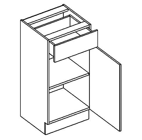 Dolná kuchynská skrinka - Casarredo - Moreno - D40 1 zásuvka