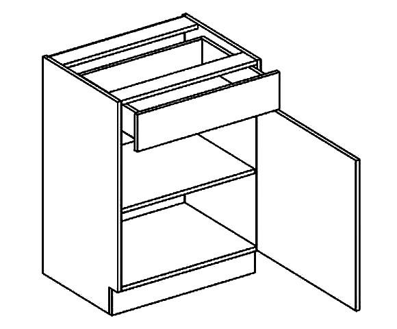 Dolná kuchynská skrinka - Casarredo - Moreno - D60 1 zásuvka