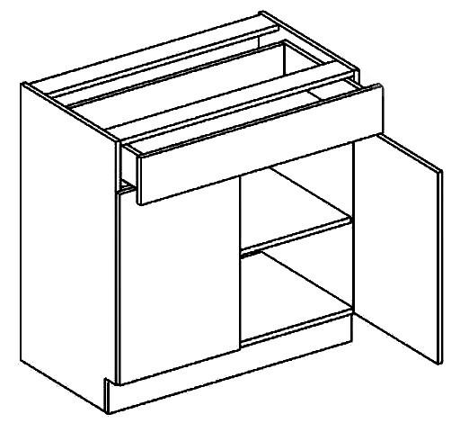 Dolná kuchynská skrinka - Casarredo - Moreno - D80 1 zásuvka
