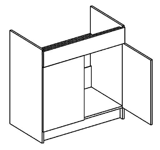 Dolná kuchynská skrinka - Casarredo - Moreno - D80 pod drez