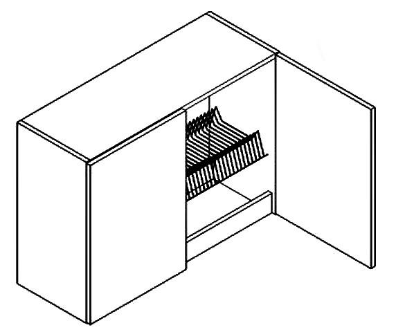Horná kuchynská skrinka - Casarredo - Moreno - W80 s odkvapávačom