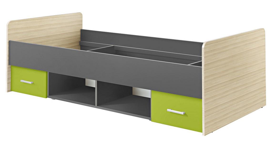 Jednolôžková posteľ 90 cm - Casarredo - Paulina limetka - MOB-5065