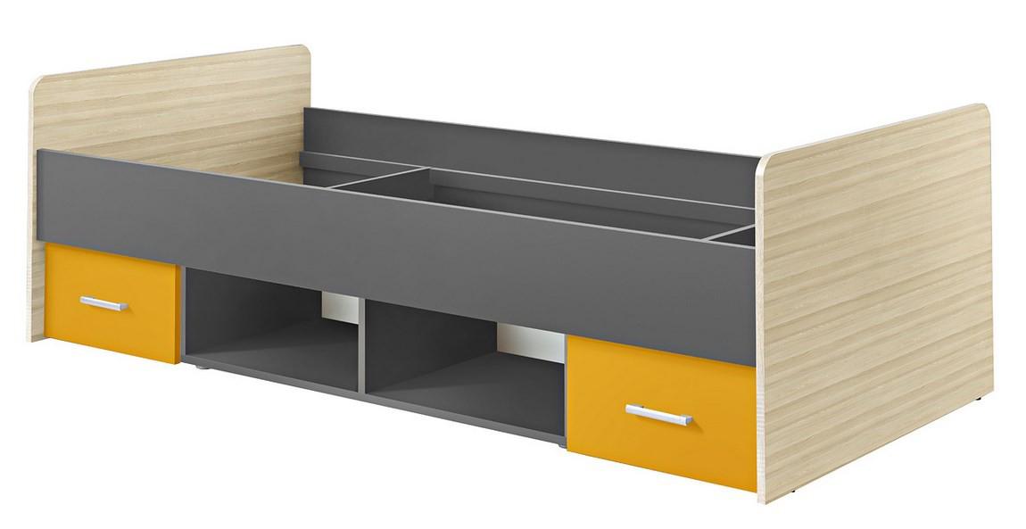Jednolôžková posteľ 90 cm - Casarredo - Paulina šafrán - MOB-5065