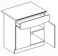 Dolná kuchynská skrinka - Casarredo - Smile - D80 1 zásuvka