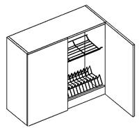Horná kuchynská skrinka - Casarredo - Smile - W80 s odkvapávačom