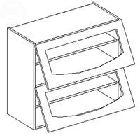 Horná kuchynská skrinka - Casarredo - Smile - WS80 dvojvýklop