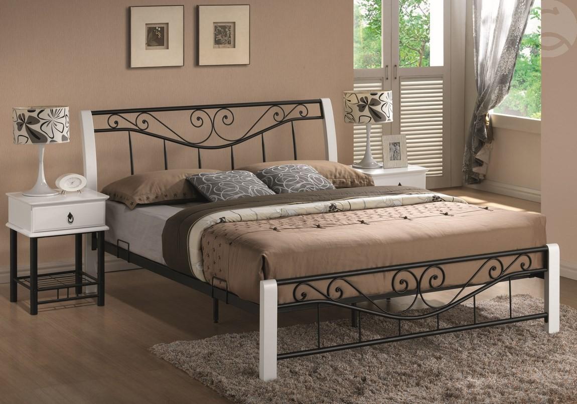 Manželská posteľ 160 cm - Casarredo - Parma (s roštom) (biela + čierna). Sme autorizovaný predajca Casarredo. Vlastná spoľahlivá doprava až k Vám domov.