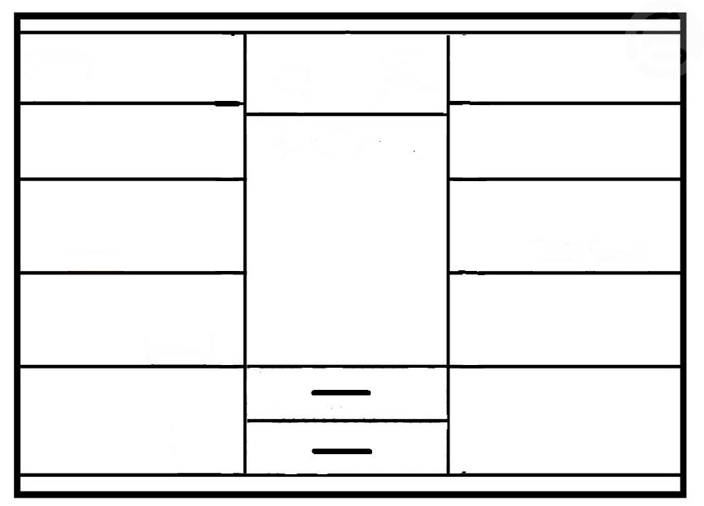 1406f5e0b60b Šatníková skriňa Idea III (250) (biela)
