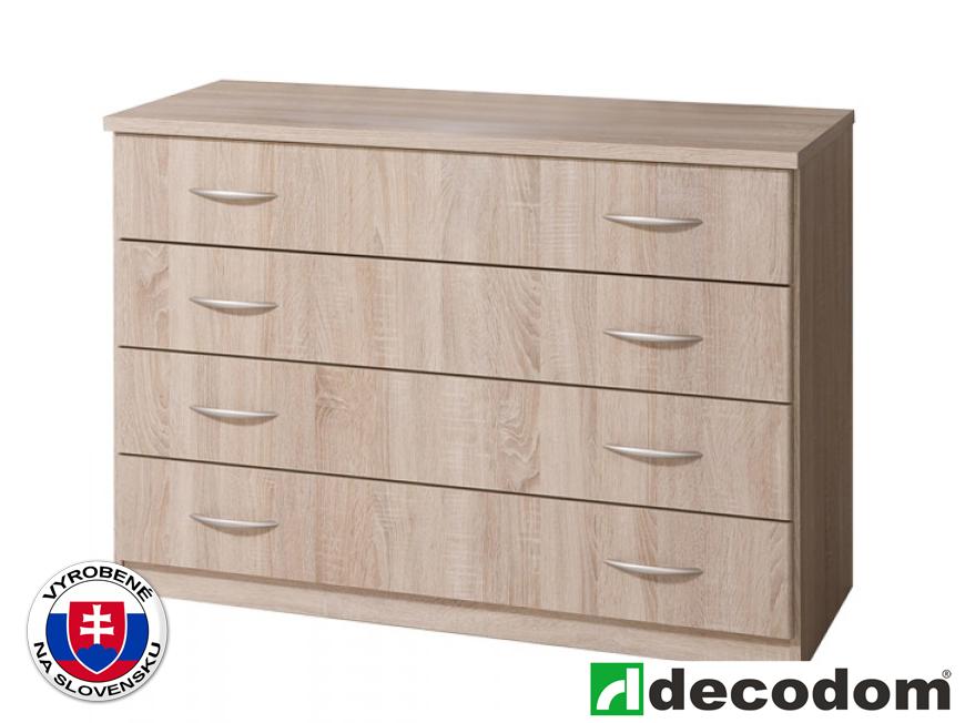 Komoda - Decodom - Casandra - 4Z (dub pílený bardolino). Sme autorizovaný predajca Decodom. Vlastná spoľahlivá doprava až k Vám domov.