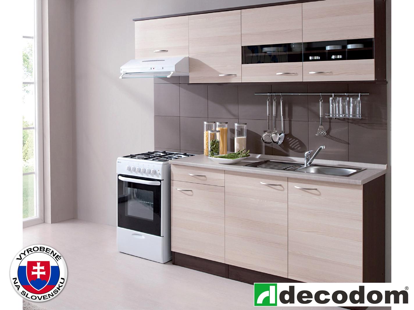 Kuchyňa - Decodom - Nela 210 cm - PD 50+100 dub tmavý + jaseň coimbra