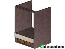 Dolná kuchynská skrinka na rúru - Decodom - Nela - S 60 ER