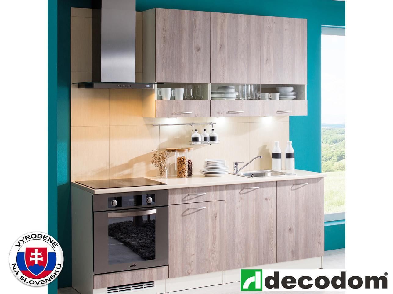 Kuchyňa - Decodom - Nela modern 210 cm dub nelson