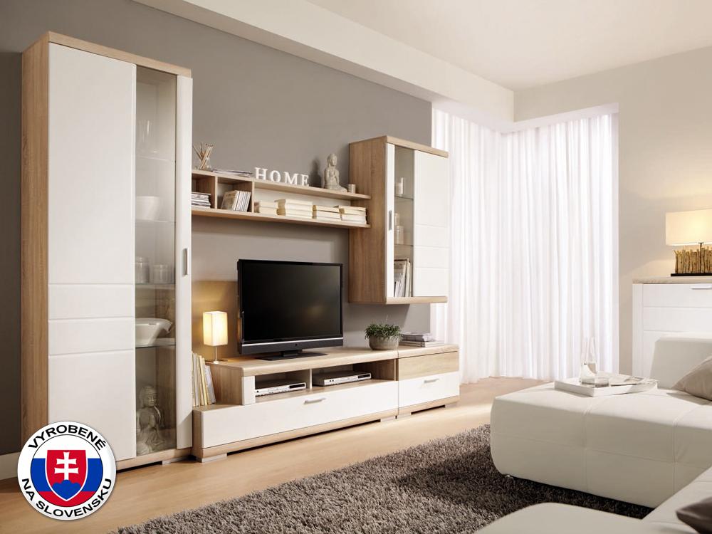 Obývacia stena - Decodom - Togo - K01 dub pílený bardolino + lesk biely