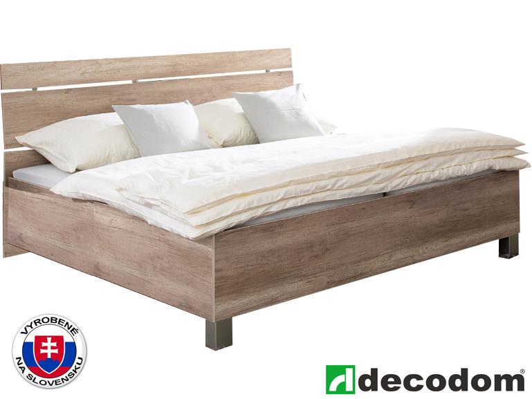 5914e814a261b Manželská posteľ 180 cm Cassa 5 verzia senior dub canyon (s úl. priestorom)