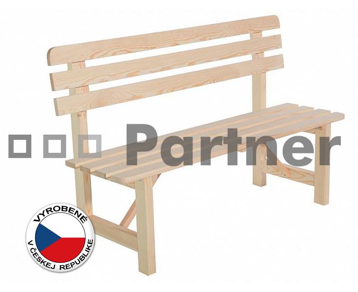 Záhradná lavička - Deokork - Borovica masív 01