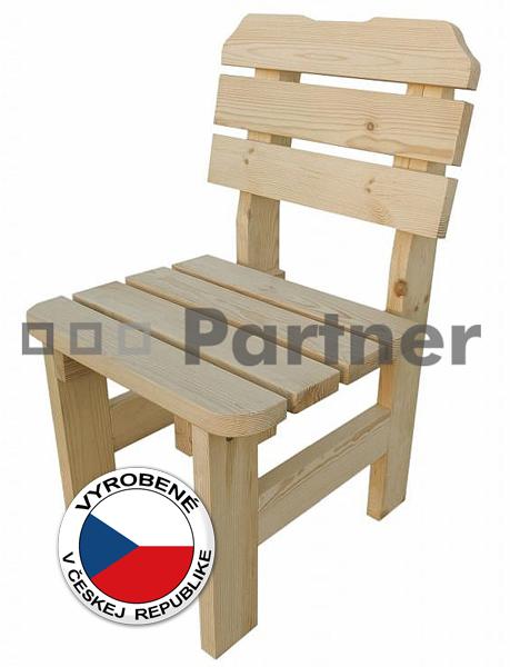Záhradná stolička - Deokork - Borovica masív 01