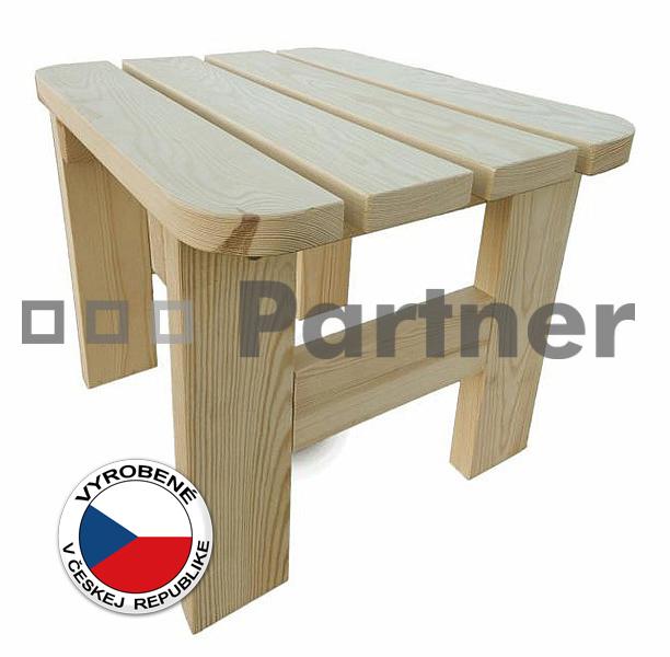 Záhradná taburetka - Deokork - Borovica masív 01
