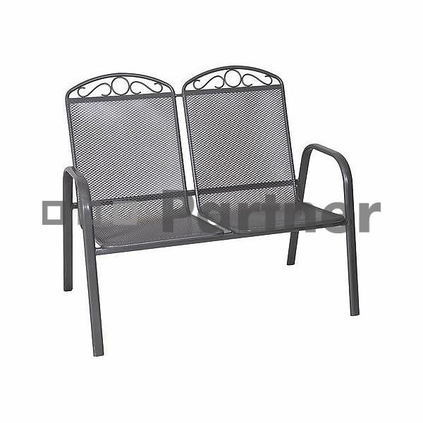 Záhradná lavička - Deokork - Grey (Kov)