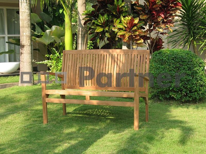 Záhradná lavička - Deokork - Harmony 120 cm (Teak)
