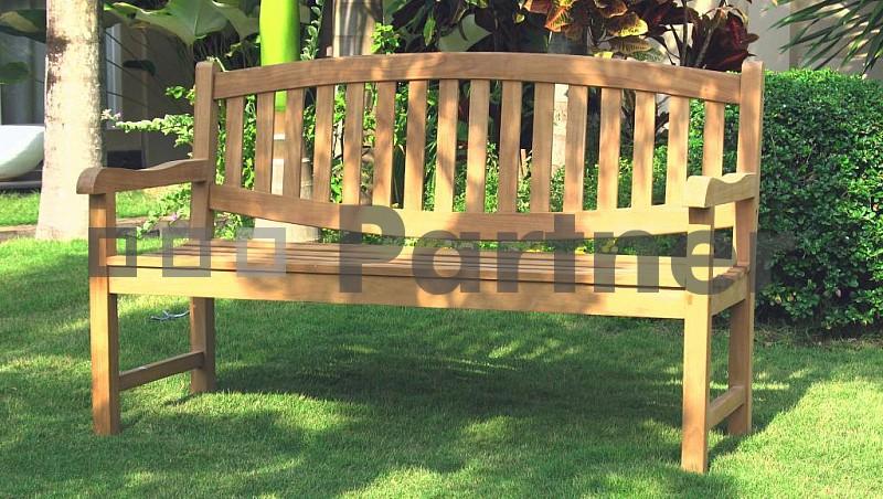 Záhradná lavička - Deokork - Blade 180 cm (Teak)