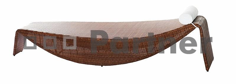 Záhradné lehátko - Deokork - Ross béžová (umelý ratan)