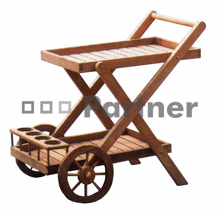 Záhradný servírovací stolík - Deokork - Coctail (Teak)