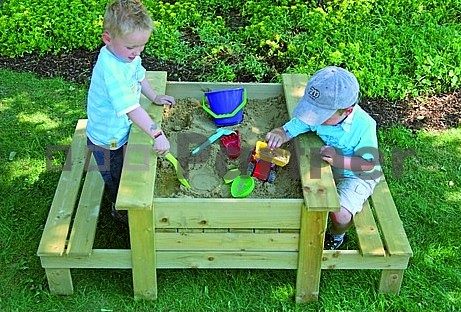 Záhradné pieskovisko - Deokork - Hrací stolík s pieskoviskom - Patrik (masív)